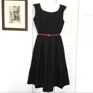 EVAN PICONE Black Label black dotted dress